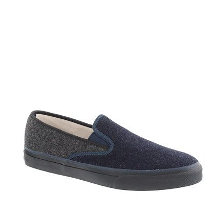 SPERRY TOP-SIDER® FOR J.CREW WOOL SLIP-ON SNEAKERS $70: Sperry S, J Crew Twist, Sneakers 70, Shoes Sneakers, Slipon Sneakers, Slip On Sneakers