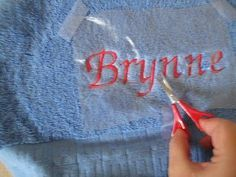Good tutorial on machine embroidering TOWELS
