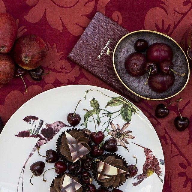 Embrace the luxurious world of #Marsala desserts with these sweet cherry and rich chocolate delights. Via @AmaraLiving #PANTONE