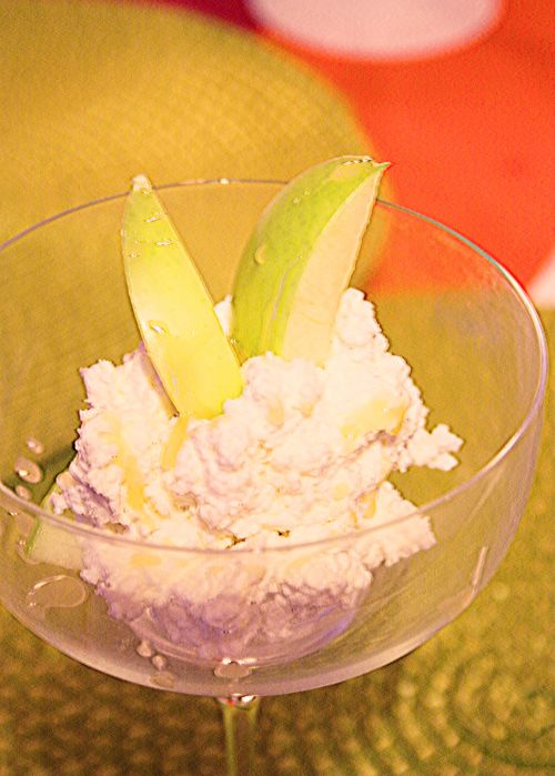 5:2 recept på äpple, keso, agave till frukost