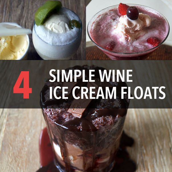 Make These 4 Simple Wine Ice Cream Floats At Home Today