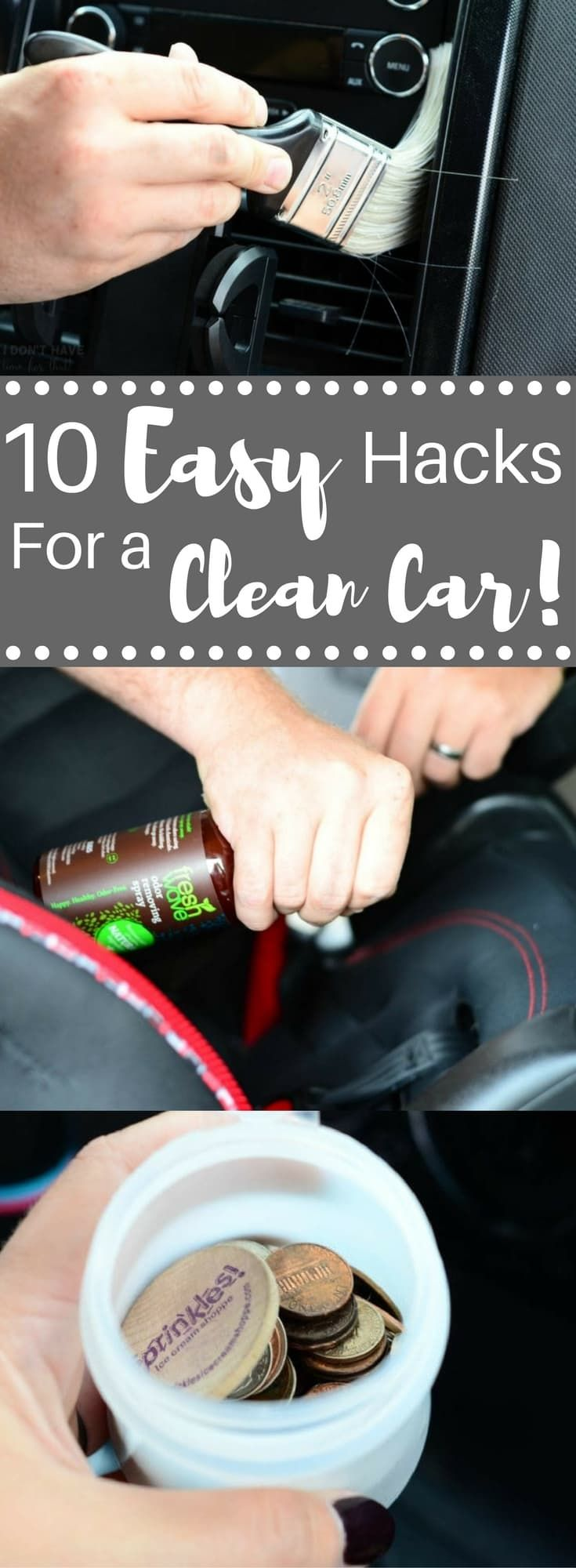 Easy hacks for a clean car