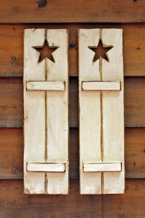 Rustic wooden Shutters. Great for wall decor by VASSdesign on Etsy, $75.00