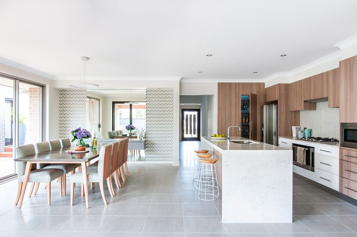 Kitchen/Dining - Novara 245 with Aspire Facade on display at Greenway Estate, Colebee