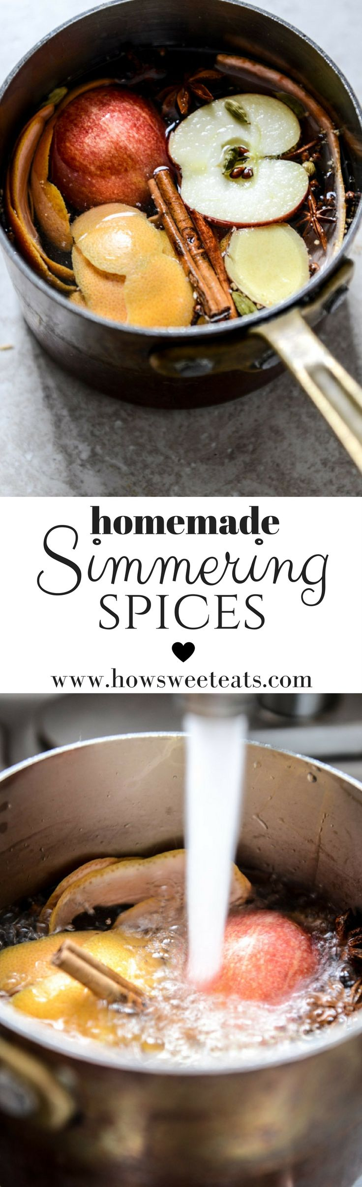 How to make your house smell amazing! Throw these homemade simmering spices on the stove. I howsweeteats.com @howsweeteats