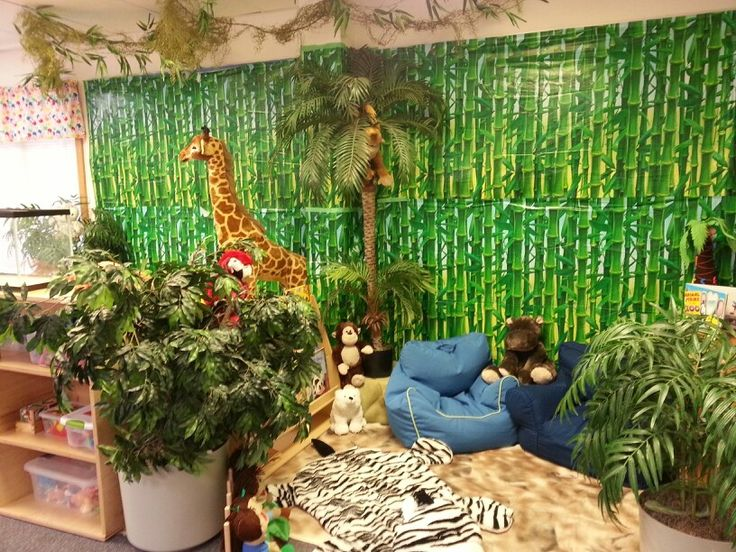 13 best images about ece dramatic play centre zoo for Jungle themed playroom