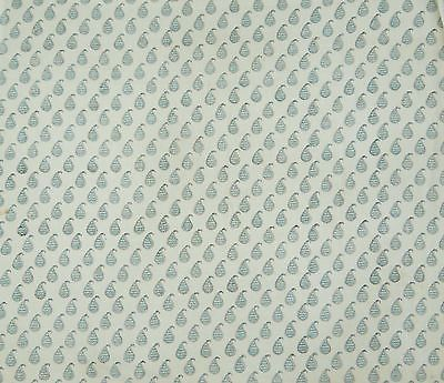 Hand-Block-Print-Cotton-Voile-White-Indian-Material-Crafting-Sewing-By-The-Yard