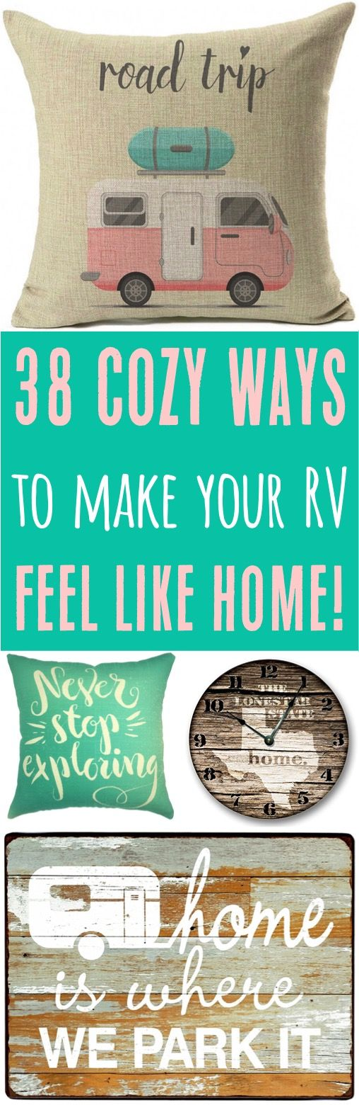 RV Decor Ideas and Hacks!  Check out these RV remodel and decorating  ideas for your next camping trip!