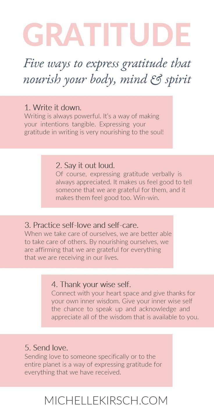 5 Ways to Express Gratitude that Nourish your Body, Min & Spirit.