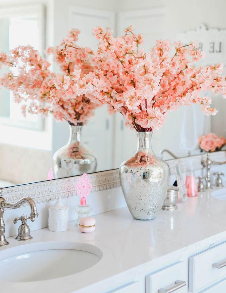 Glam Bathroom Ideas In 2020 Glam Bathroom Ideas Pink Bathroom Decor Chic Bathroom Decor