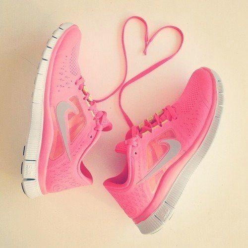 Cute pink nikes