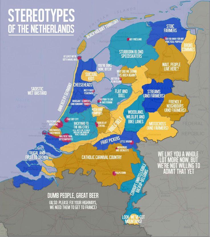 Je kan Nederland geografisch natuurlijk indelen aan