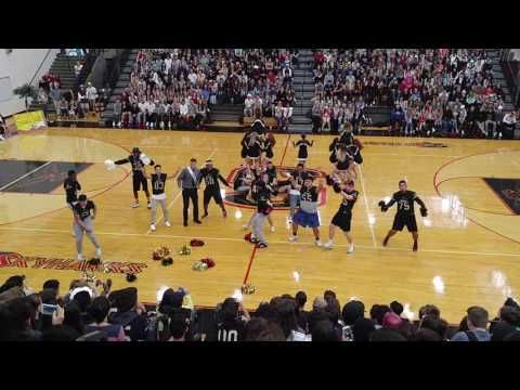 Southridge Varsity Cheer and Football's Homecoming Routine 2016 - YouTube