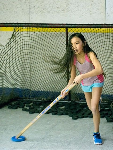 Kiana never loses her focus on or off the ice. ivivva Vaughan Mills | run