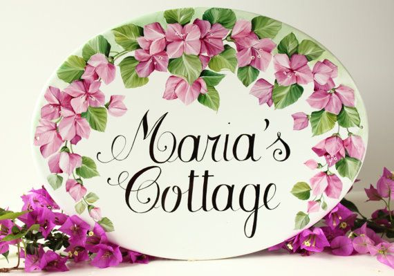 House sign with bougainvillea: the easier way to personalize your home!