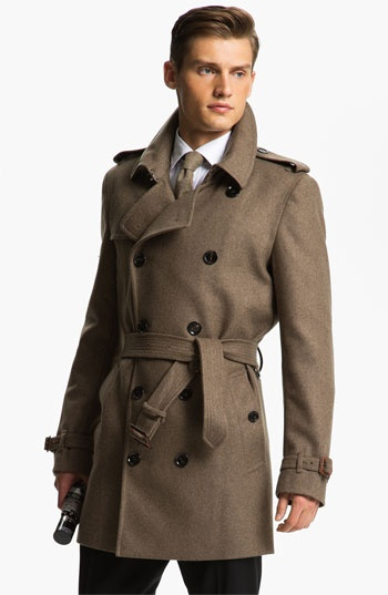 Love it! | Burberry London Trim Fit Double Breasted Trench Coat available at #Nordstrom