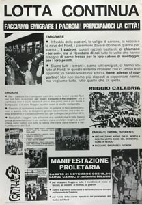 Manifesto di Lotta Continua sulla rivolta di Reggio Calabria