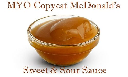 Copycat McDonalds Sweet & Sour Sauce Recipe  If you prefer to dine in and eat REAL chicken in your nuggets, but still crave that delectable sweet and sour sauce of your local fast food joint, here's a fantastic copycat recipe.