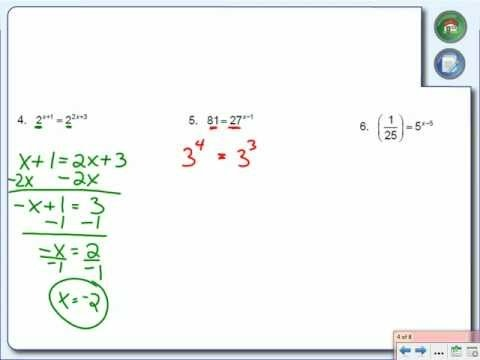 how to solve math exponential rules