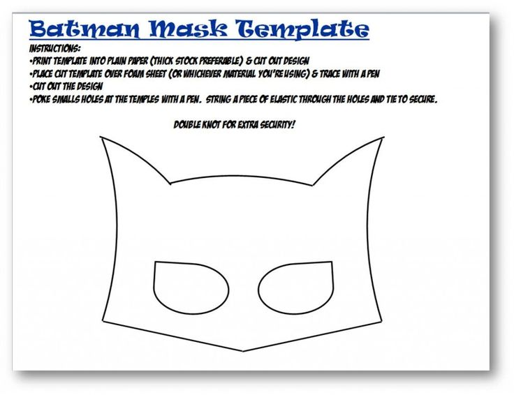 Batman mask template felt masks pinterest bakeries for Batman face mask template