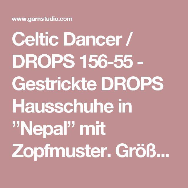"Celtic Dancer / DROPS 156-55 - Gestrickte DROPS Hausschuhe in ""Nepal"" mit Zopfmuster. Größe 35 - 43. - Free pattern by DROPS Design"