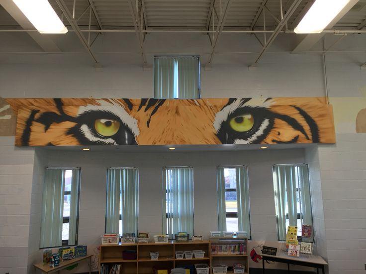Eye of the Tiger! At St. Matthews School! Still in progress.
