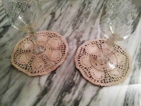 Vintage Venetian Lace  Vintage Coaster Hanwoven coaster