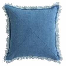 Denim cushion Kriss Kross - front