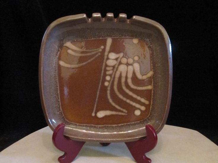 $120 · Rolf Ungstad Ceramic Arts Calgary Studio signed art pottery ashtray dish
