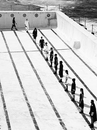 Maurice Terzini parade part of Mercedes-Benz Fashion Week Australia at Icebergs, Bondi. P