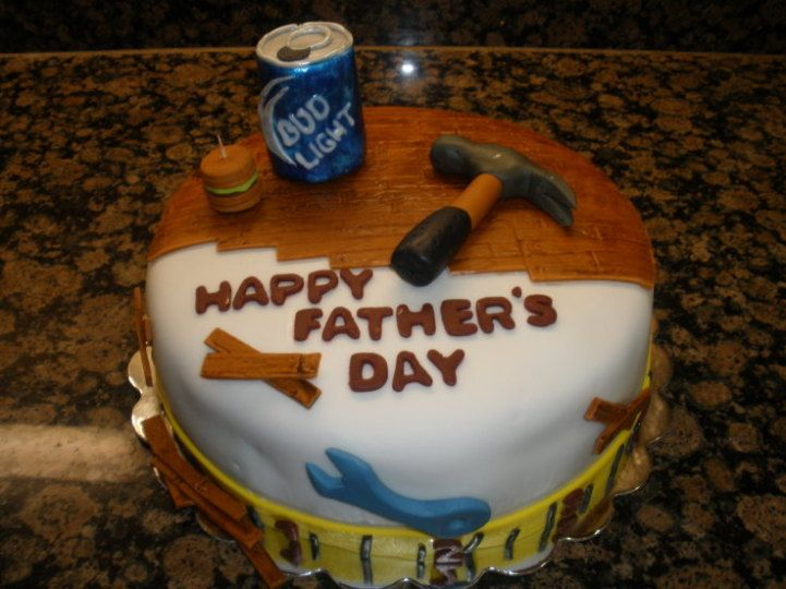 Fathers Day Cake Ideas and Fathers Day Cakes - In place  of the Bud Light I would put his favorite soda