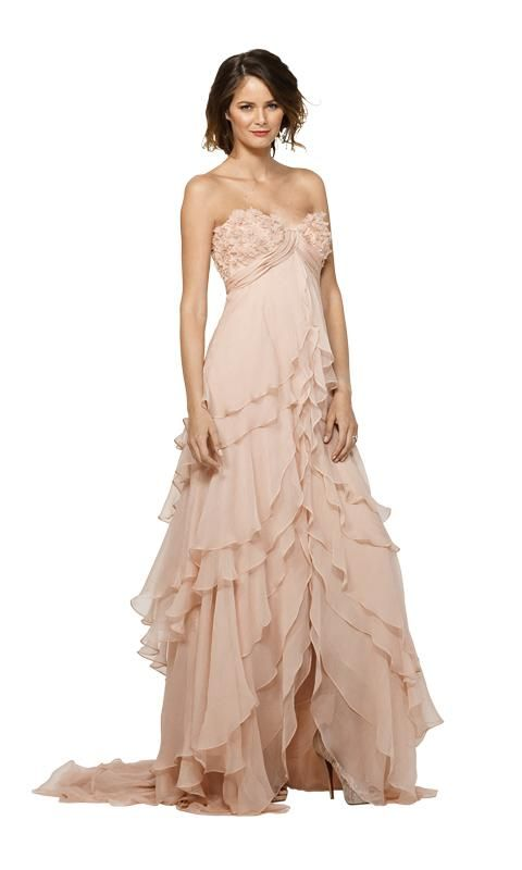 This floaty blush dress would be ideal at a destination wedding!