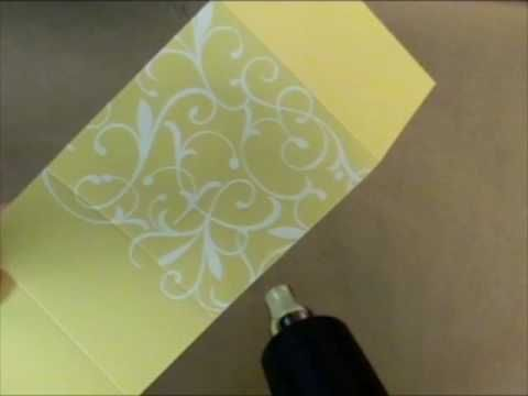 Video for Hero Arts by Jennifer McGuire. Shows how to create a stamped pouch for candy. Also shows white embossing. For more information, visit heroarts.com/...
