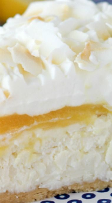 No-Bake Lemon (Coconut) Macaroon Cheesecake