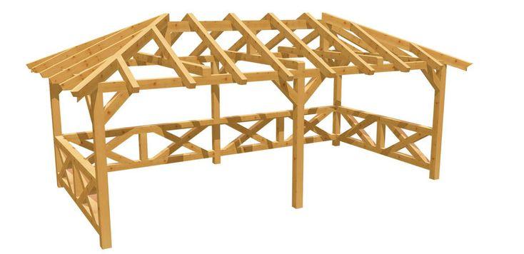 Walmdach-Pavillon selber bauen – holz-bauplan.de – Basteln