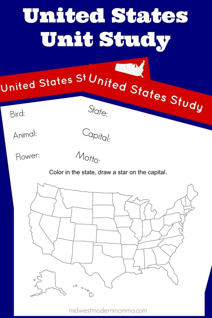 Free Homeschool Curriculum: United States Unit Study ~ If you are looking for a free homeschool curriculum to teach your kids about the United States, we have a great United States unit study. This includes some amazing free printables that you can utilize in your classroom while working with your kids. This free homeschool curriculum is easy to adjust to any age range.