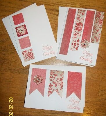 Love these quick and easy card ideas from the Crazy Stamping Lady