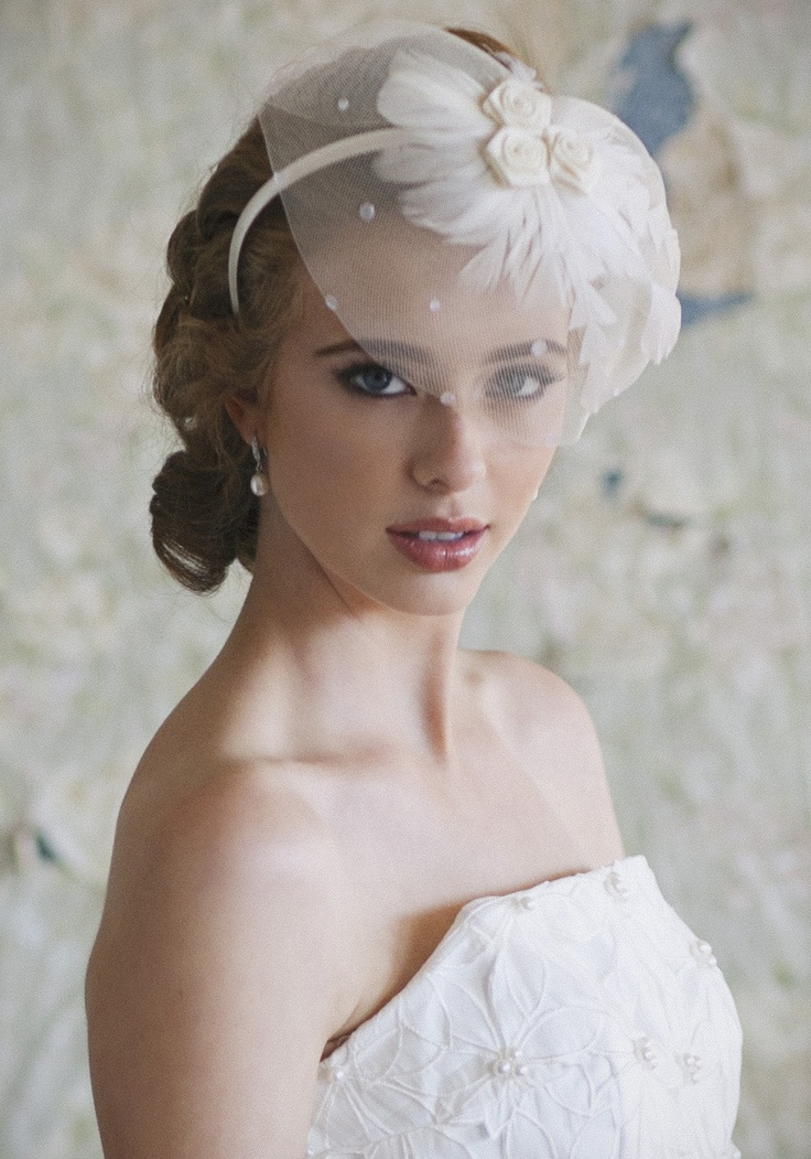 Birdcage Veils. A birdcage veil covers only part of the face and is attached to either a headband or a comb. Often made with fishnet-patterned Russian tulle, this style gives off a vintage vibe that juxtaposes perfectly with modern wedding dresses, even jumpsuits. EXPLORE birdcage VEILS >.