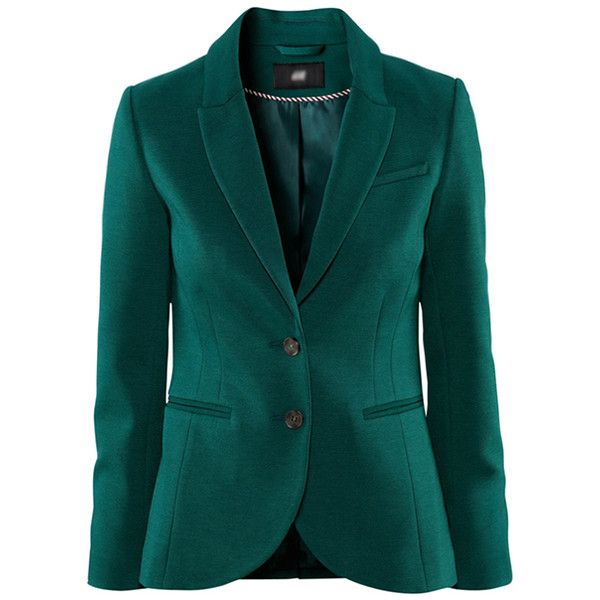 Chicnova Fashion Pure Color Slim Fit Blazer ($29) found on Polyvore featuring outerwear, jackets, blazers, chicnova, green, slim fit jacket, green blazer, slim fit blazer, slim jacket and slim blazer