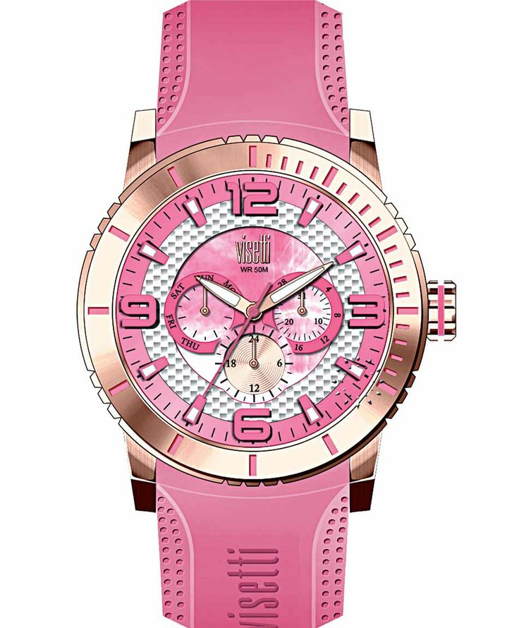VISETTI New Era Rose Gold Pink Rubber Strap Μοντέλο: PE-750RR Τιμή: 120€ http://www.oroloi.gr/product_info.php?products_id=39497
