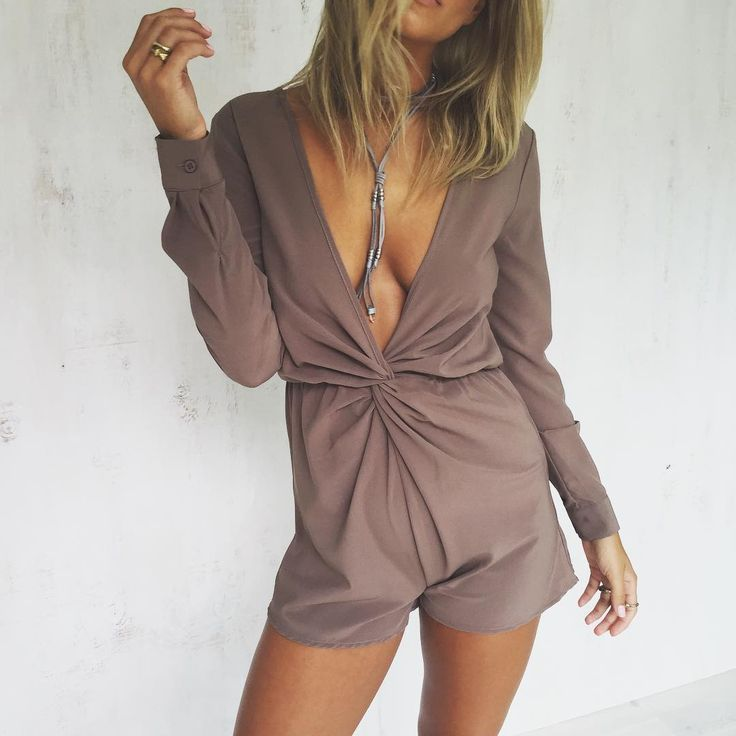 Mika Playsuit | #SaboSkirt  Chocolate brown playsuits