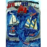 'sail away' A3 poster print