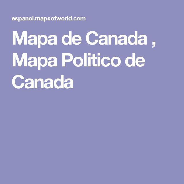 Mapa de Canada , Mapa Politico de Canada