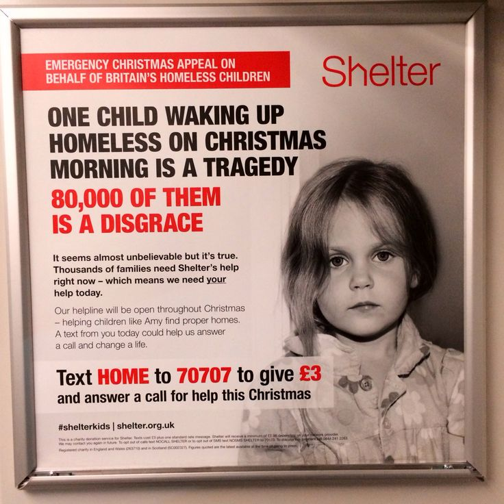 This Is A Train Ad From Homeless Charity Shelter The Call To Action Is -2065
