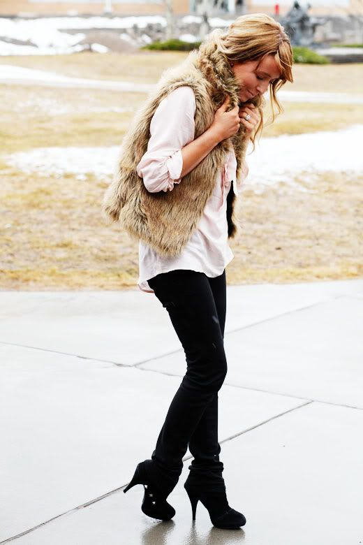 must find a fur vest like this for winter.  May look good paired with the red Stitch Fix plaid shirt???