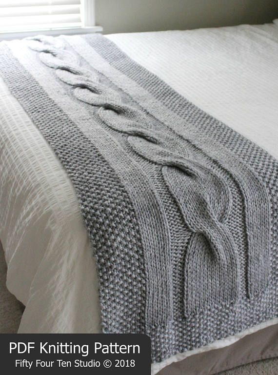Bed Runner Knitting Pattern River Of Dreams Cable Blanket