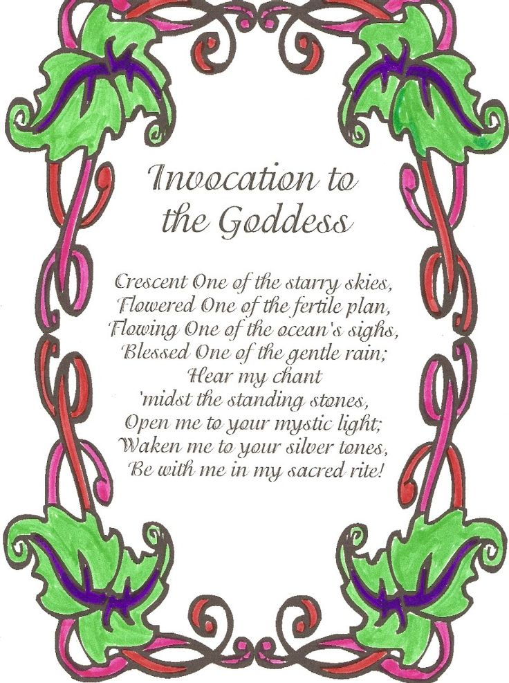 Simple Invocation. Ideal for Solitary Ritual.