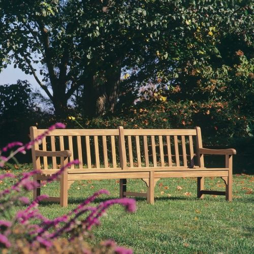oxford garden essex wood park bench commercial patio furniture at hayneedle