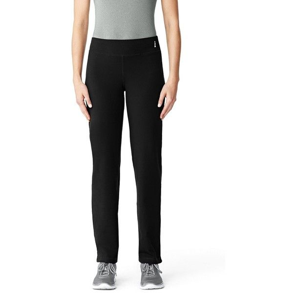 Lands' End Women's Petite Active Pants ($49) ❤ liked on Polyvore featuring activewear, activewear pants, black, petite activewear, lands' end, petite activewear pants and petite sportswear