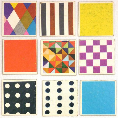 """Memory cards from original-memory. With 15 pictures designed by Charles Eames in the game """"House of Cards""""."""